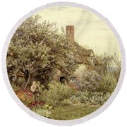 Near Hambledon Round Beach Towel by Helen Allingham