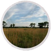 Nebraska Prairie One Round Beach Towel