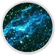 Nebulae In Cygnus Round Beach Towel