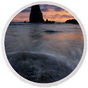 Needles Sundown Round Beach Towel