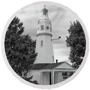 Neenah Lighthouse  8390 Round Beach Towel