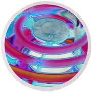 Neon Burner Round Beach Towel