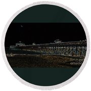 Neoned Pier Round Beach Towel