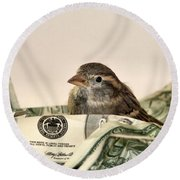 Nest Egg Round Beach Towel