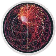 Neutrino Tracks Round Beach Towel