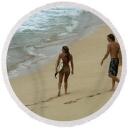 Never Ending Summer Round Beach Towel
