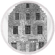 New Amsterdam: House, 1626 Round Beach Towel