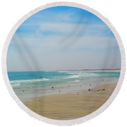 New Jersey And You Round Beach Towel