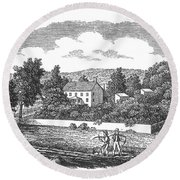 New Jersey Farm, C1810 Round Beach Towel