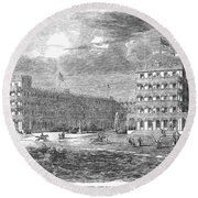 New Jersey Hotel, 1853 Round Beach Towel