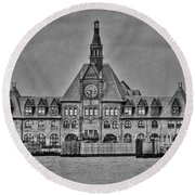 New Jersey Terminal Round Beach Towel