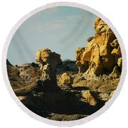 New Mexico Red Rock Round Beach Towel