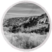 New Mexico Series - A View Of The Land Round Beach Towel
