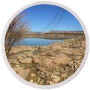 New Mexico Series - Abiquiu Lake IIi Round Beach Towel