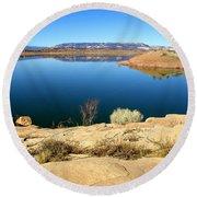 New Mexico Series - Abiquiu Lake Round Beach Towel