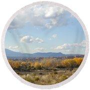 New Mexico Series - Autumn Landscape Round Beach Towel