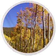 New Mexico Series - Autumn On The Mountain Round Beach Towel