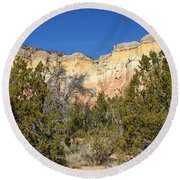 New Mexico Series - Bandelier I Round Beach Towel
