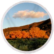 New Mexico Series - Cloud Over Autumn Round Beach Towel