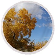 New Mexico Series - Desert Landscape Autumn Round Beach Towel