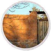 New Mexico Series - Doorway II Round Beach Towel