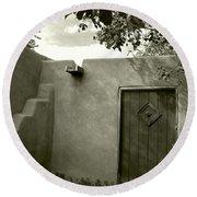 New Mexico Series - Doorway Iv Round Beach Towel