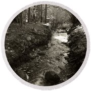 New Mexico Series - Late Winter Streambed Round Beach Towel