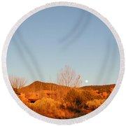 New Mexico Series - Moonrise Autumn Round Beach Towel
