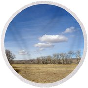 New Mexico Series - The Long View Round Beach Towel
