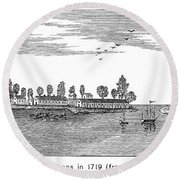 New Orleans, 1719 Round Beach Towel