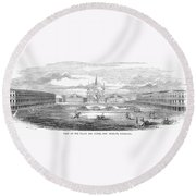New Orleans, 1853 Round Beach Towel