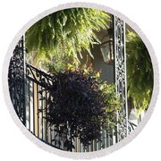 New Orleans Afternoon Light Round Beach Towel