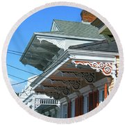 New Orleans Home Uptown Round Beach Towel
