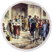 New Orleans: Voting, 1867 Round Beach Towel