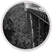 New River Gorge Bridge Fayetteville West Virginia Round Beach Towel