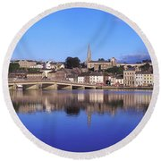 New Ross, Co Wexford, Ireland Round Beach Towel