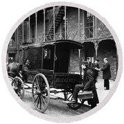 New York: Ambulance, 1895 Round Beach Towel
