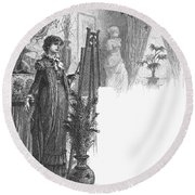New York: Artist, 1882 Round Beach Towel