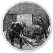 New York: Aspca, 1888 Round Beach Towel