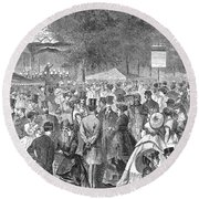 New York: Bandstand, 1869 Round Beach Towel