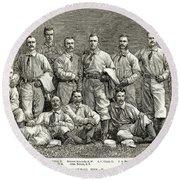 New York Baseball Team Round Beach Towel
