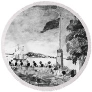 New York: Battery, 1793 Round Beach Towel