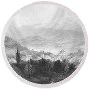 New York: Catskills, 1839 Round Beach Towel