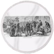 New York City: Winter Round Beach Towel