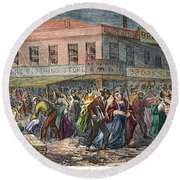 New York: Draft Riots 1863 Round Beach Towel