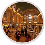 New York Grand Central Round Beach Towel