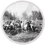 New York: Polo Club, 1877 Round Beach Towel