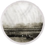 New York: Polo Grounds Round Beach Towel