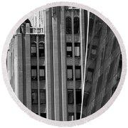 New York Reflections 1 Round Beach Towel
