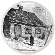 New York: Shanty, 1875 Round Beach Towel